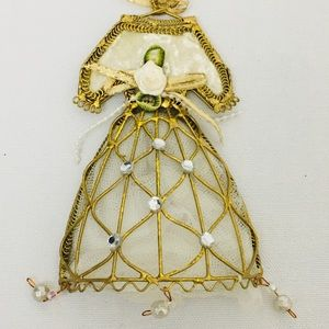 Other - TWO (2) VICTORIAN DRESS CHRISTMAS TREE ORNAMENTS
